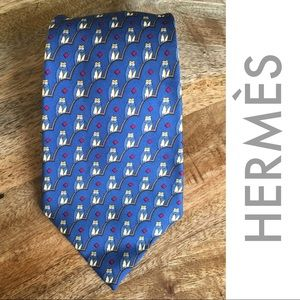 Hermes Paris Silk Owl Tie